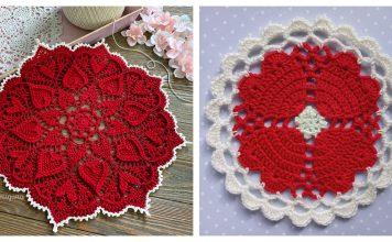 Hearts Around Doily Free Crochet Pattern