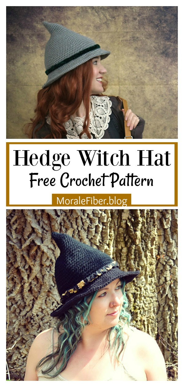 Hedge Witch Hat Free Crochet Pattern