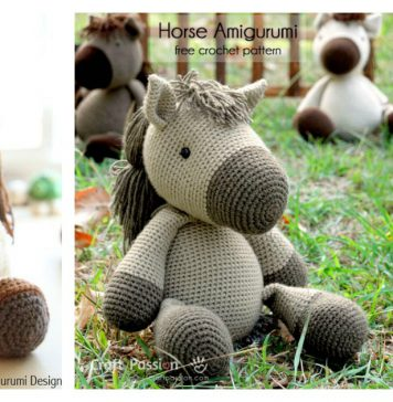 Horse Amigurumi Free Crochet Pattern and Paid