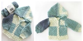 Kids Granny Square Jacket Free Crochet Pattern