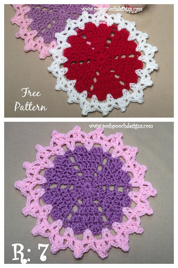Little Valentine Doily Free Crochet Pattern and Video Tutorial