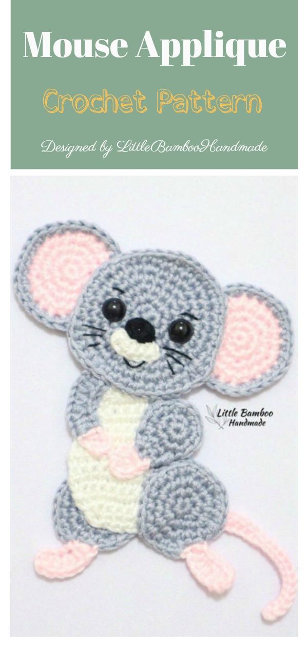 Mouse Applique Crochet Pattern