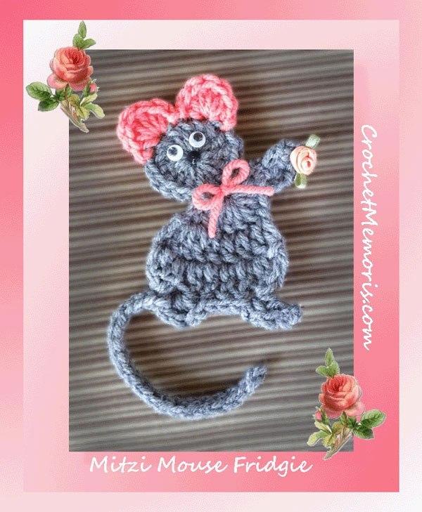 Mouse Applique Free Crochet Pattern