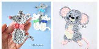 Mouse Applique Free Crochet Pattern and Paid