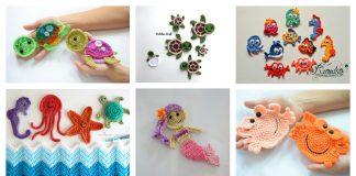 Ocean and Sea Applique Free Crochet Pattern
