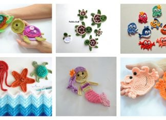 Ocean and Sea Applique Free Crochet Pattern