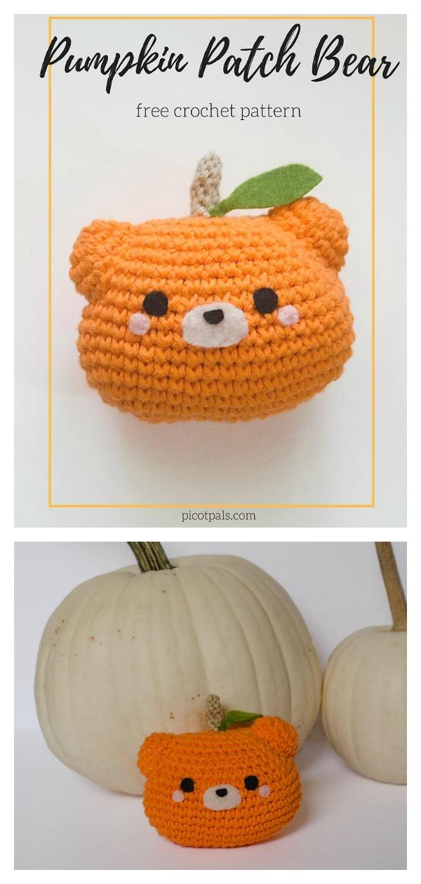 Pumpkin Patch Bear Free Crochet Pattern