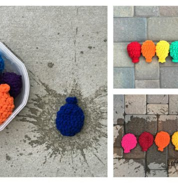 Reusable Water Balloons Free Crochet Pattern