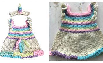 Unicorn Dress Free Crochet Pattern