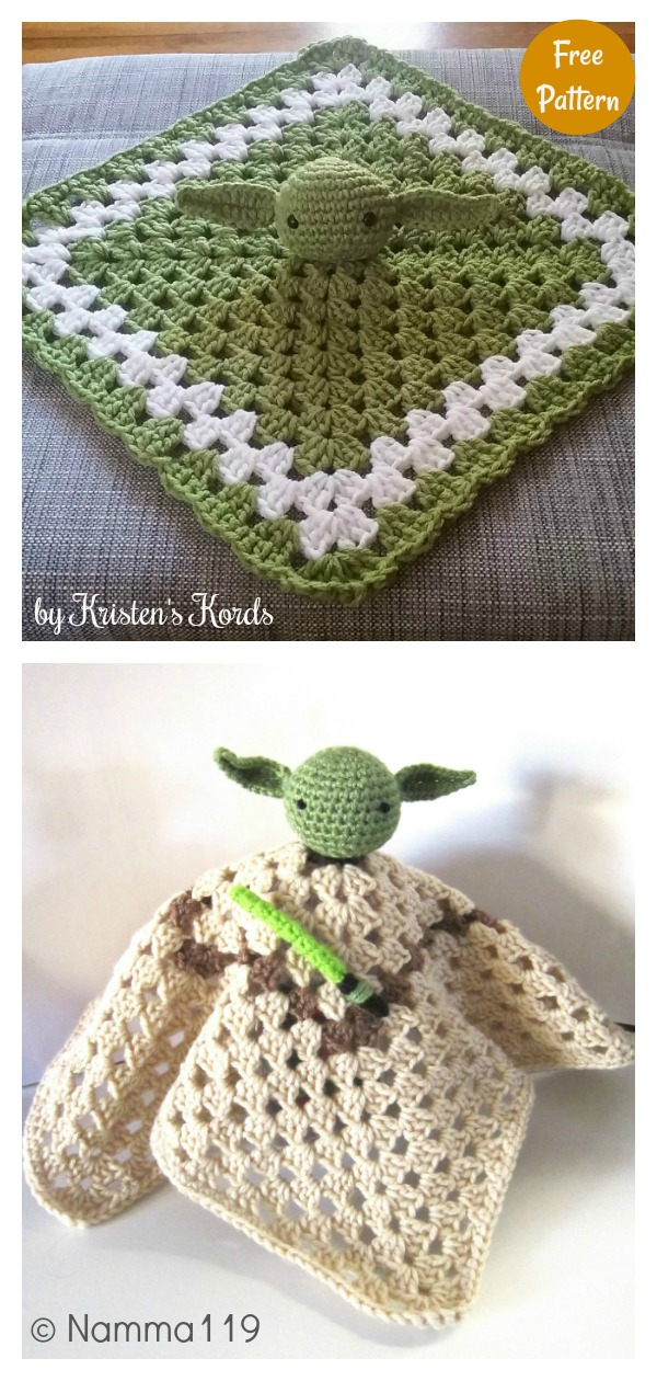 Yoda Inspired Lovey Free Crochet Pattern