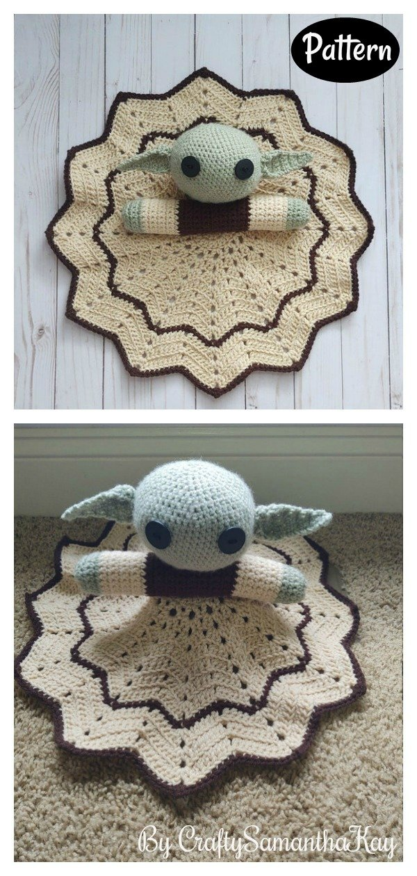 Yoda Lovey Crochet Pattern