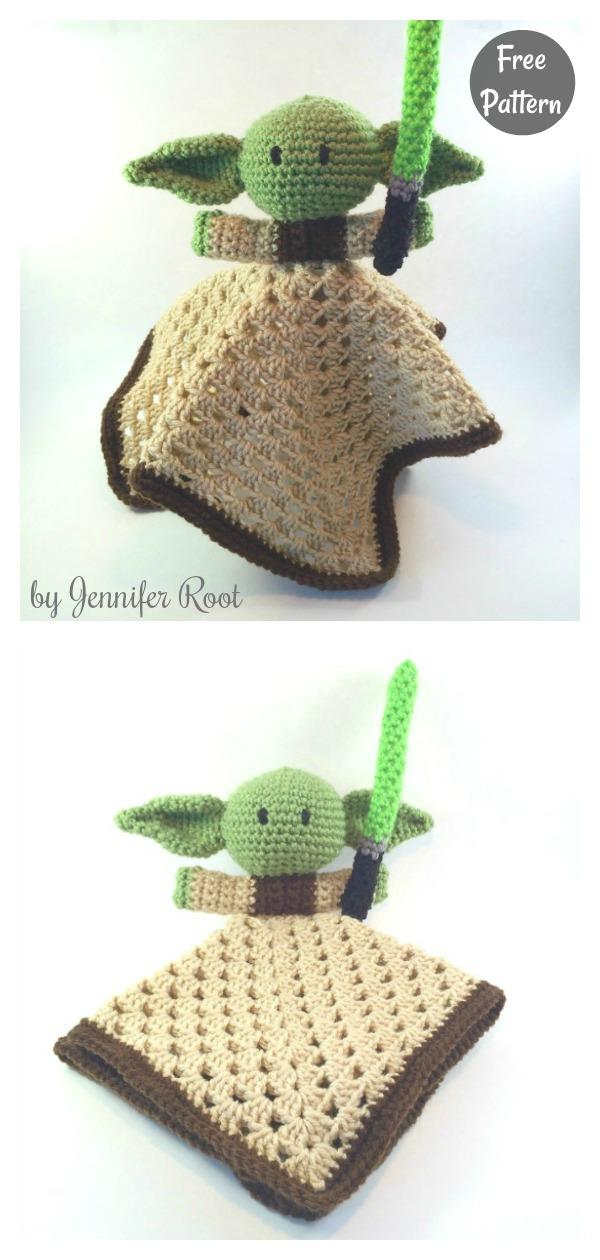 Yoda Lovey Free Crochet Pattern