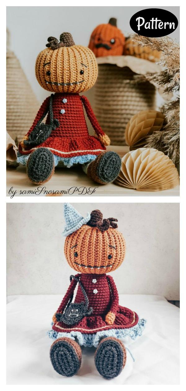 Adorable Pumpkin Head Doll Crochet Pattern