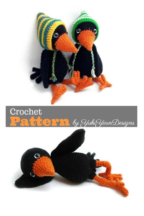 Amigurumi Crow Crochet Pattern