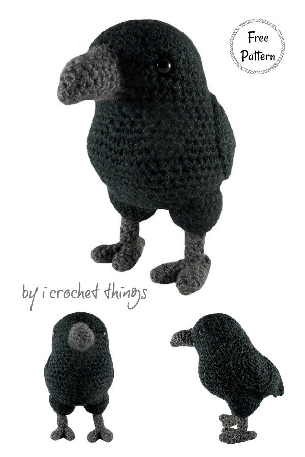 Amigurumi Crow Free Crochet Pattern