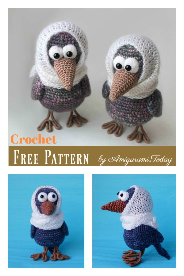 Amigurumi Curious Crow Free Crochet pattern