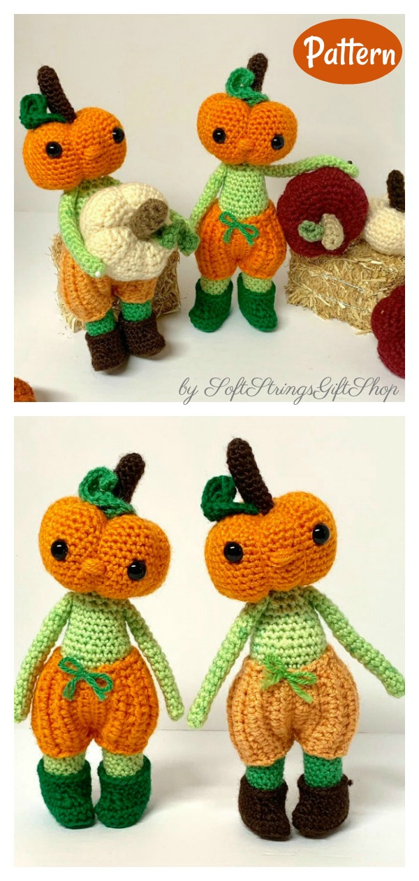 Amigurumi Pumpkin Head Doll Crochet Pattern