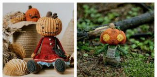 Amigurumi Pumpkin Head Doll Crochet Patterns