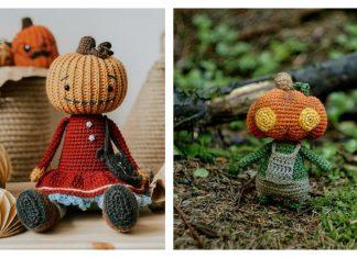 Amigurumi Pumpkin Head Doll Crochet Patterns