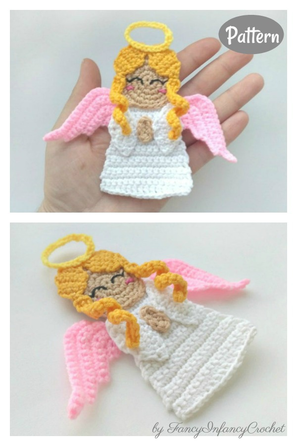 Angel Applique Crochet Pattern