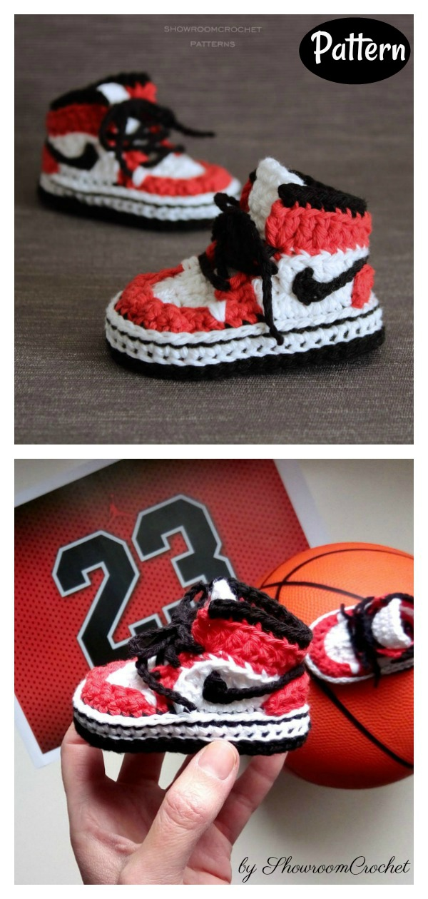 Baby Sneaker Slippers Crochet Pattern