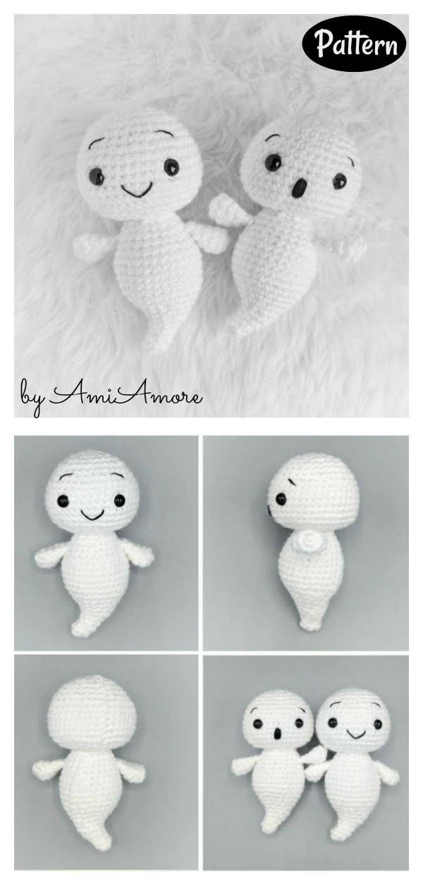 Boo Baby Ghost Mini Amigurumi Crochet Pattern