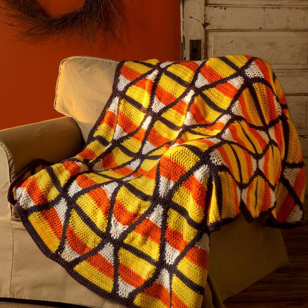Candy Corn Throw Free Crochet Pattern