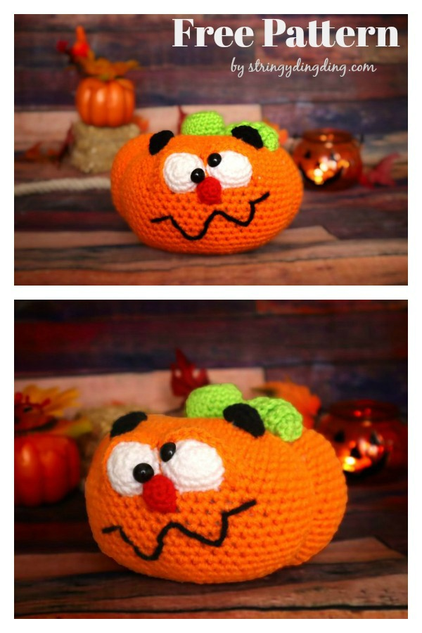 Cartoon Halloween Pumpkin Amigurumi Free Crochet Pattern