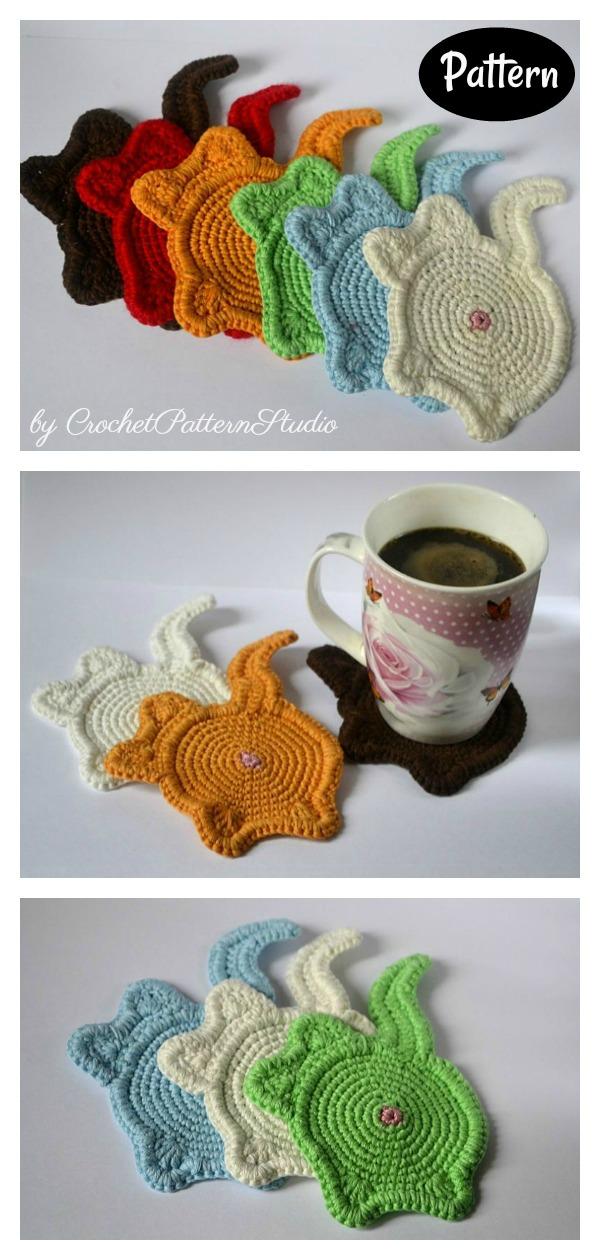 Cat Butt Mug Rug Crochet Pattern