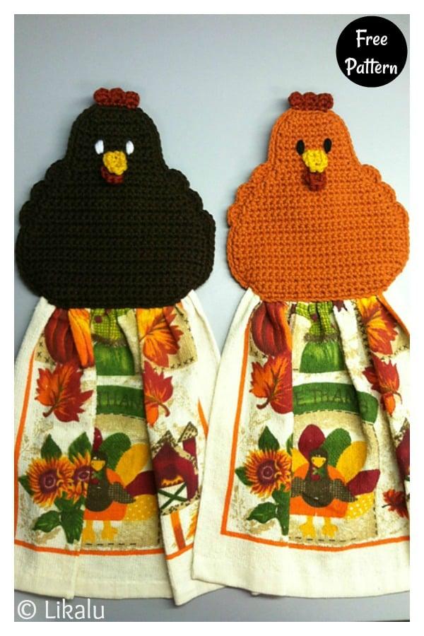 Chicken Towel Topper Free Crochet Pattern