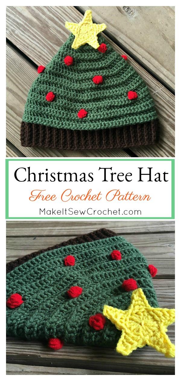 Christmas Tree Hat Free Crochet Pattern