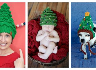 Christmas Tree Hat Free Crochet Pattern and Paid