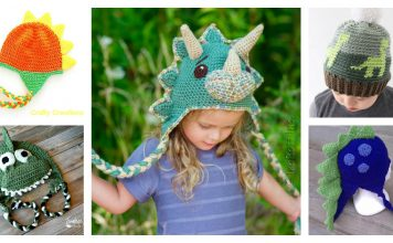Dinosaur Hat Free Crochet Pattern and Paid