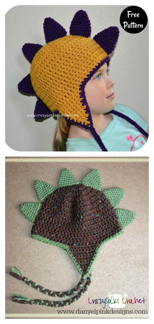 Dinosaur Spikes Free Crochet Pattern