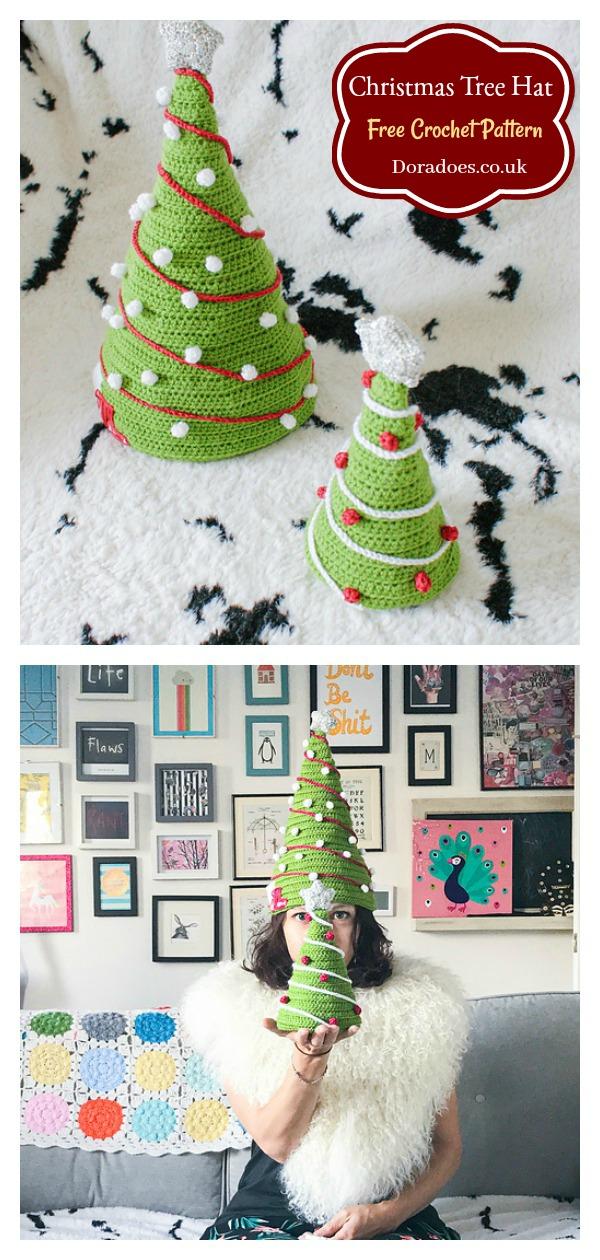 Dora's Christmas Tree Hat Free Crochet Pattern