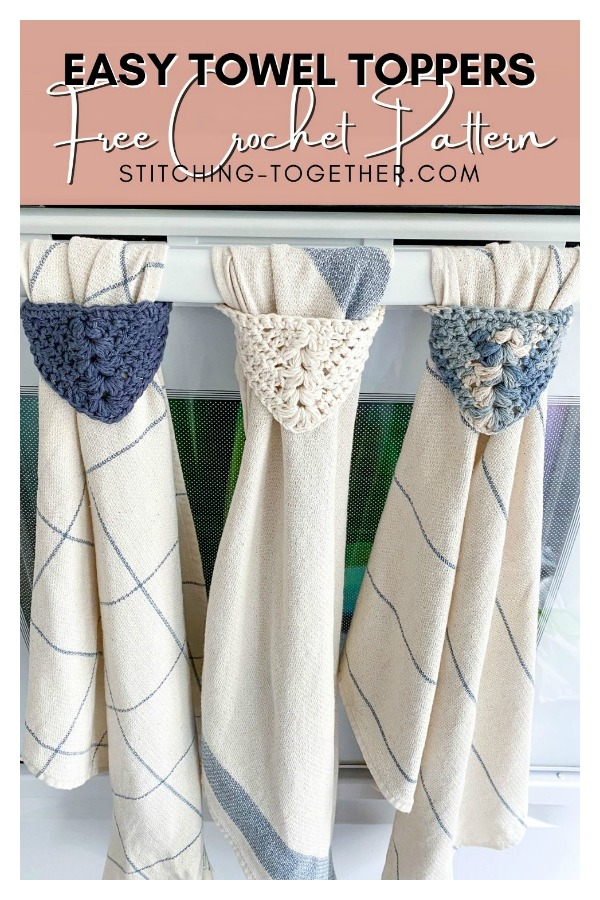 Easy and Modern Kitchen Towel Topper Free Crochet Pattern