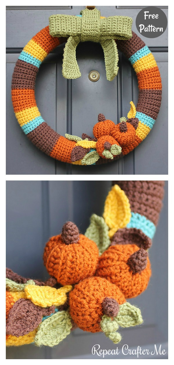 Fall Wreath Free Crochet Pattern