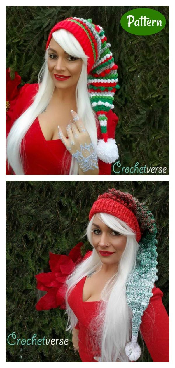 Fancy Elf Hat Crochet Pattern