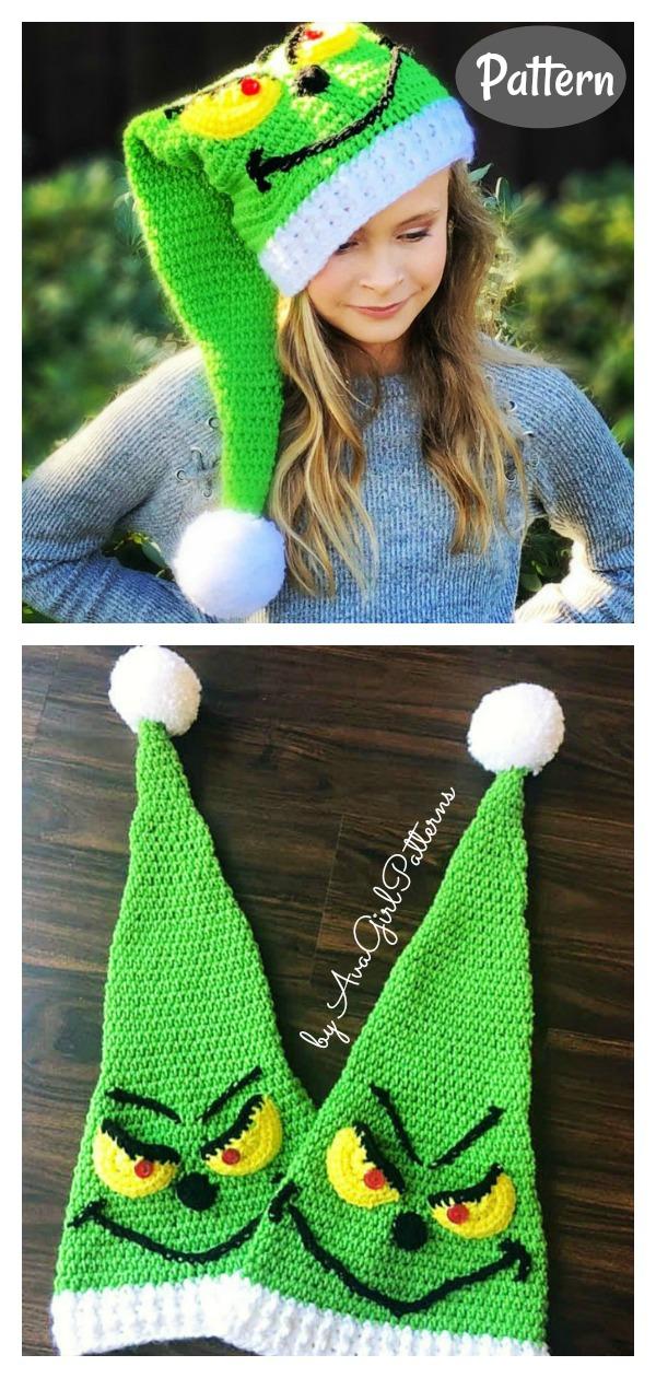Grinchy Elf Hat Crochet Pattern