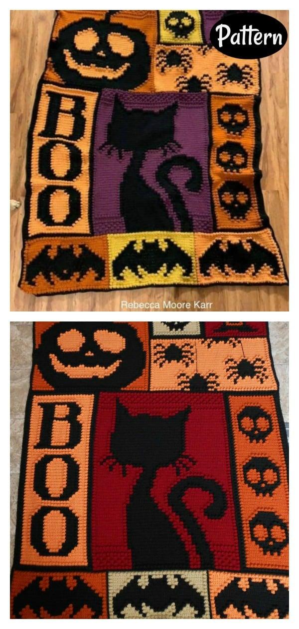 Halloween Blanket Crochet Pattern