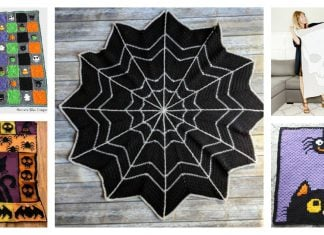 Halloween Blanket Free Crochet Pattern and Paid