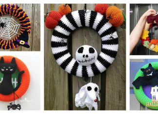 Halloween Wreath Free Crochet Pattern and Paid