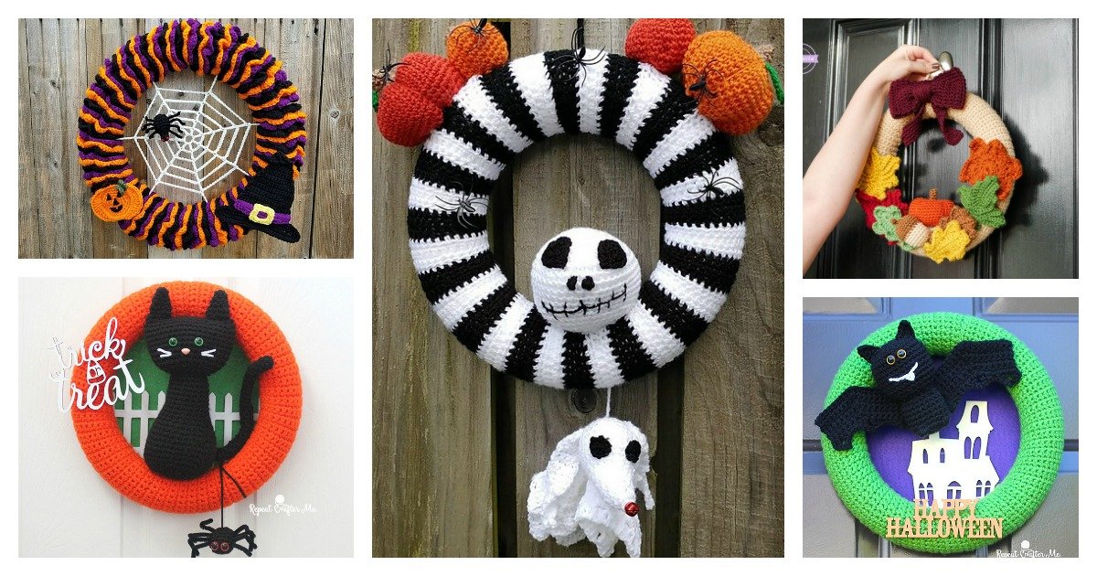 10 Halloween Wreath Free Crochet Pattern And Paid