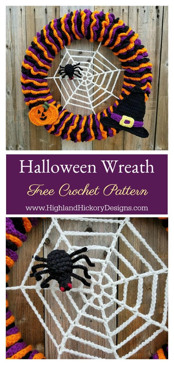 Halloween Wreath Free Crochet Pattern