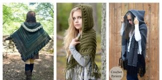 Hooded Shawl Free Crochet Pattern and Paid