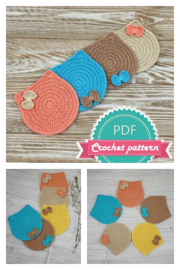 Kitten Cat Coaster Crochet Pattern