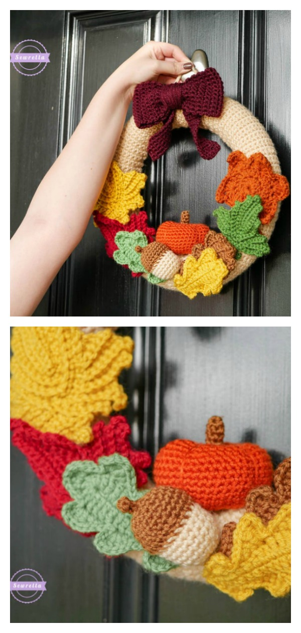 Mornings of Autumn Wreath Crochet Pattern