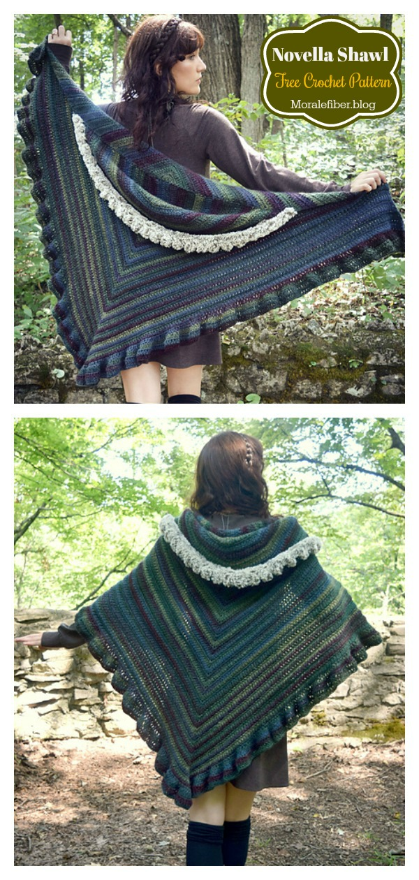 Novella Hooded Shawl Free Crochet Pattern