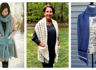 Pocket Scarf Crochet Patterns Free & Paid