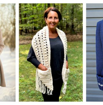 Pocket Scarf Crochet Patterns Free & Paid